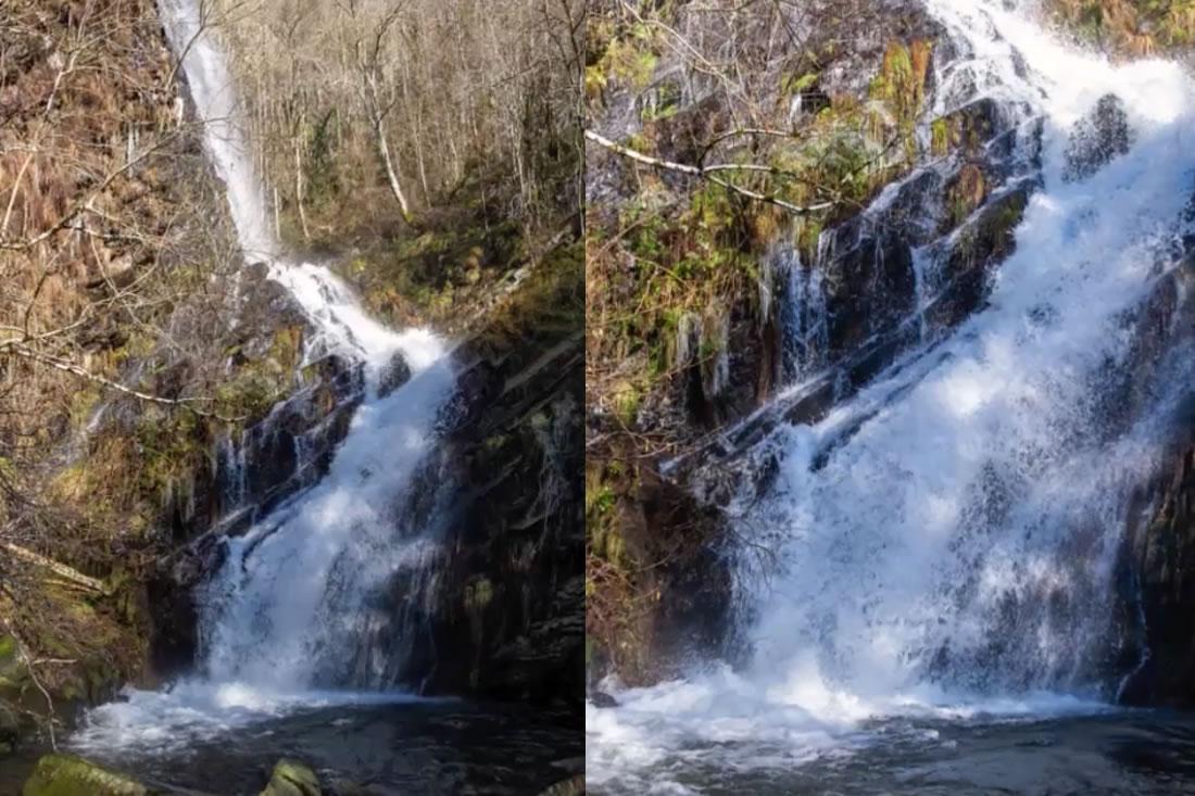 Route zum Wasserfall La Seimeira