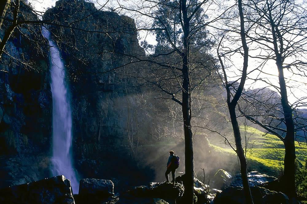 The Oneta waterfalls