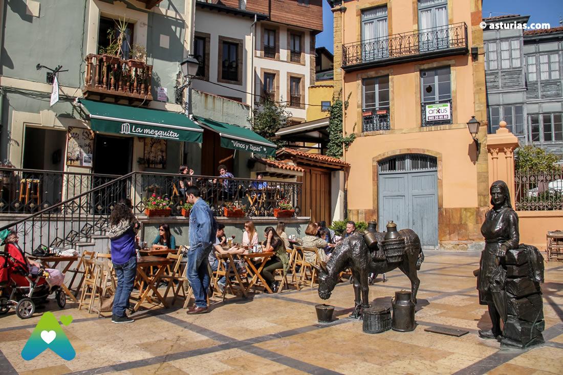 El casco histórico de Oviedo