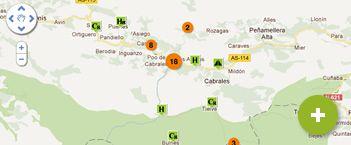 mapa de Cabrales