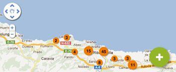 mapa de Ribadesella