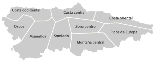 Carte des Asturies